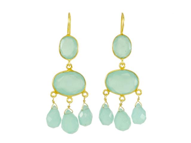 Gabrielle D'Estree Earrings Chalcedony – E1047