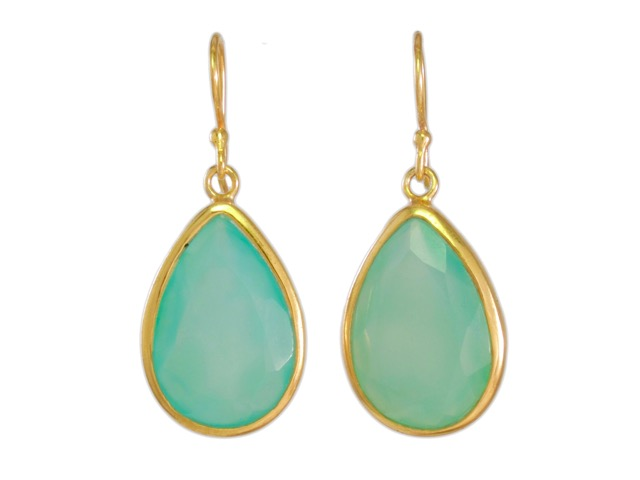 Earrings Chalcedony Teardrops – E6913