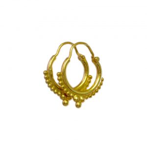 Gold Plated Hoops – E1649