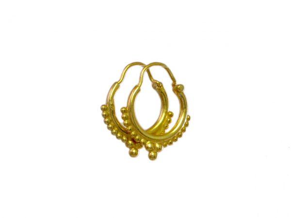 Goud vergulde kleine Etruskische creolen