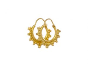 Silver Gold Plated Hoops – E1650