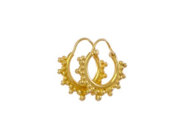 Goud vergulde Etruskische oorringen E1650