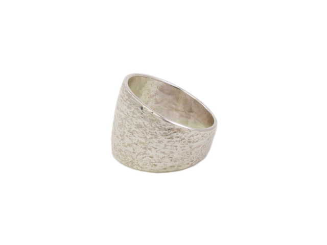 Silver Flat Oval Ring – R1455