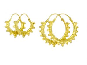 Gold Plated Silver Etruscan Hoops E1650 En E1640