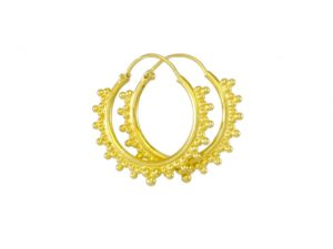 Silver Gold Plated Hoops – E1640